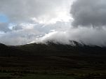 Clouds draped over the Ben